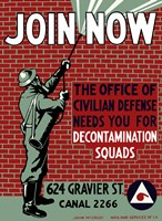 Decontamination Squads - Join Now by John Parrot - various sizes, FulcrumGallery.com brand