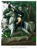 General Andrew Jackson on Horseback (color) Fine Art Print