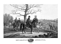Generals Robert E Lee and Ulysses S Grant Fine Art Print