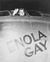 Colonel Paul Tibbets on the Enola Gay by John Parrot - various sizes