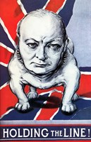BWinston Churchill as a Bulldog and the British flag by John Parrot - various sizes, FulcrumGallery.com brand