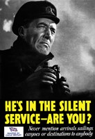He's In The Silent Service - Are You? by John Parrot - various sizes
