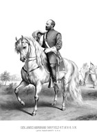 President James Garfield on Horseback Fine Art Print
