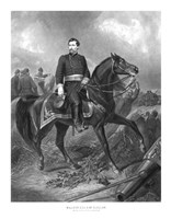 Union General George McClellan on Horseback by John Parrot - various sizes - $47.49