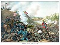Battle of Franklin (vintage Civil War) by John Parrot - various sizes