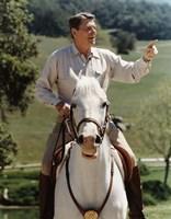 Ronald Reagan on Horseback (color photo) Fine Art Print