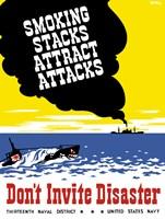 Smoking Stacks Attract Attacks by John Parrot - various sizes