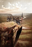 Union Soldiers on the Summit of Lookout Mountain by John Parrot - various sizes