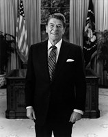 President Ronald Reagan in the Oval Office by John Parrot - various sizes, FulcrumGallery.com brand