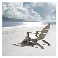 Solitary Beach Chair Fine Art Print