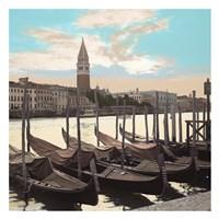 Campanile Vista with Gondolas Fine Art Print