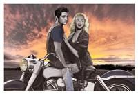 "Sunset Ride by Joshua Nelson - 38"" x 26"""