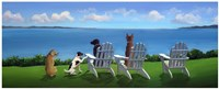 "Pups with a View by Carol Saxe - 20"" x 8"""