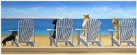 "Beach Chair Tails II by Carol Saxe - 20"" x 8"""