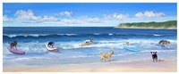 "Hot Dogs Surf by Carol Saxe - 20"" x 8"""