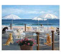 "Beach Club Tails by Carol Saxe - 18"" x 14"""