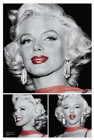 Marilyn - Red Lips Trio Framed Print