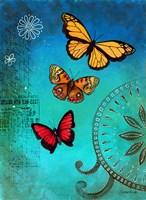 Fluorescent Blue Butterfly Fine Art Print