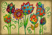 Mosaic Flowers-Spring by Christine Kerrick - various sizes