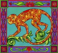 Mosaic Monkey Fine Art Print