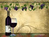 Wine II With Vines Fine Art Print
