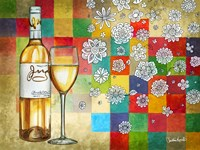 Wine With White Squares by Christine Kerrick - various sizes - $37.99
