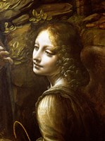 Detail of the Angel, from The Virgin of the Rocks Fine Art Print