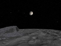 Artist's Concept of a View Across The Surface of Themisto towards Jupiter and its Moons by Walter Myers - various sizes
