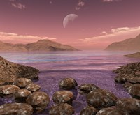 Artist's Concept of Archean Stromatolites on the Shore of an Ancient Sea by Walter Myers - various sizes - $46.99