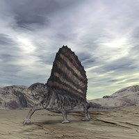 Dimetrodon Grandis Traverses Earth During the Early Permian Period by Walter Myers - various sizes, FulcrumGallery.com brand
