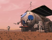 Artist's Concept of How a Martian Motorhome Might be Realized by Walter Myers - various sizes - $47.49