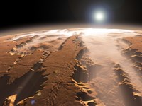 Artist's Concept of the Valles Marineris Canyons on Mars by Walter Myers - various sizes