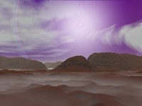 Artist's concept of the Atmosphere on Pluto by Walter Myers - various sizes