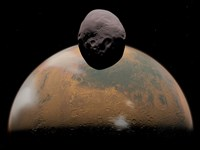 Artist's Concept of Mars and its Tiny Moon Phobos by Walter Myers - various sizes - $47.49