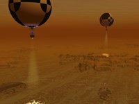 A Pair of Balloon-Borne Probes Leisurely Survey the Surface of Titan by Walter Myers - various sizes