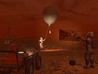 Astronauts Release a Weather Balloon on the Surface of Titan by Walter Myers - various sizes
