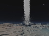 Eruption of an Ice Volcano on the Surface of Neptunes Moon Triton by Walter Myers - various sizes