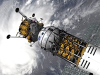 Artist's concept of a Space Tug Docked with a Lunar Lander by Walter Myers - various sizes