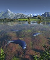 Fanged Enchodus Predatory Fish From the Late Cretaceous Period by Walter Myers - various sizes, FulcrumGallery.com brand