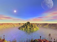Alien Flora Flourishes in an Impact Crater by Walter Myers - various sizes