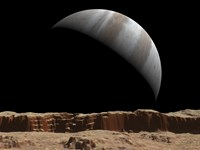 Artist's Concept of a View Towards Jupiter Across the Surface of Lo by Walter Myers - various sizes