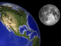 Artist's Concept of the Earth and its Moon by Walter Myers - various sizes