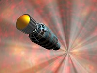 Illustration of a Spacecraft Travelling Faster than the Speed of Light Fine Art Print