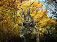 A Diabloceratops Wanders a Cretaceous Forest by Walter Myers - various sizes
