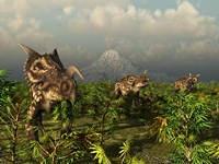 A Herd of Plant-Eating Einiosaurus Roam the Plains by Walter Myers - various sizes