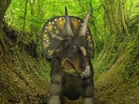 A Nedoceratops Wanders a Cretaceous Forest by Walter Myers - various sizes
