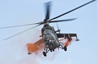 Czech Air Force Mi-35 Hind Helicopter Fine Art Print