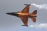 Dutch Air Force F-16A During a Flight Demonstration Fine Art Print