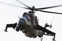 Polish Army Mil Mi-24V Hind in Flight Fine Art Print