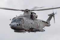 Royal Navy EH-101 Merlin in Flight, Jagel, Germany Fine Art Print